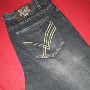Platini Mens Designer Jeans - 36x30